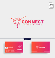 Connecting communication logo template vector