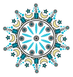 decorative round ornaments vector image