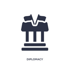 Diplomacy icon on white background simple element vector
