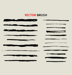 Dry brush freehand sketch set vector