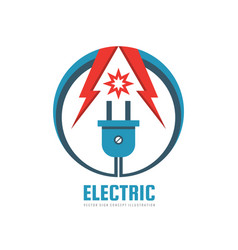 electric - logo template concept vector image