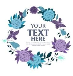 Flower wreath background vector image