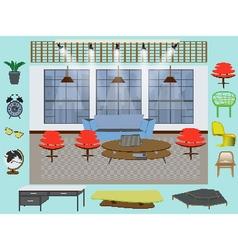 Furniture interior decor elements vector image