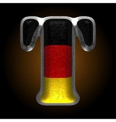 Germany metal figure t vector