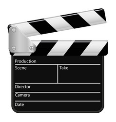 Graphic clapperboard vector