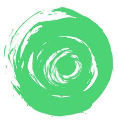 Green brushstroke round shape vector