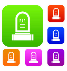 Headstone set collection vector