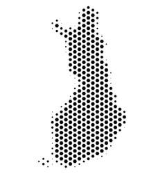 Hex-tile finland map vector