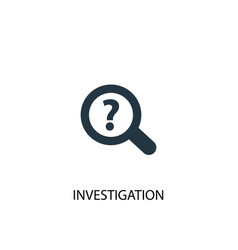 investigation icon simple element vector image