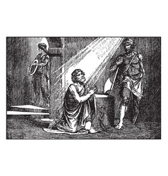 John baptist prays in prison just before his vector
