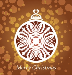 lacy snowflake christmas decoration vector image