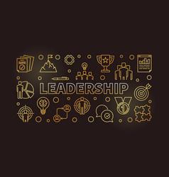 Leadership horizontal golden vector