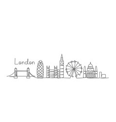 london one line drawing vector image