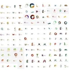 Mega set of letter logos vector image