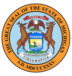 Michigan state seal vector