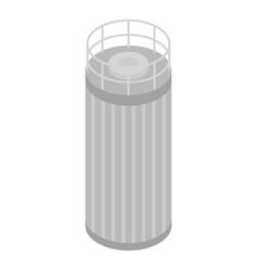 Milk tank cistern icon isometric style vector