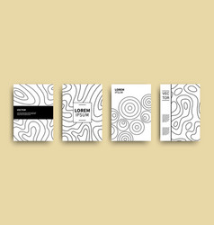 modern abstract topography geometric covers set vector image
