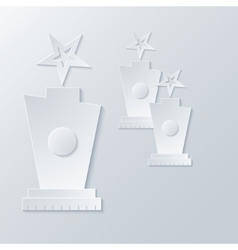 Modern award light background vector