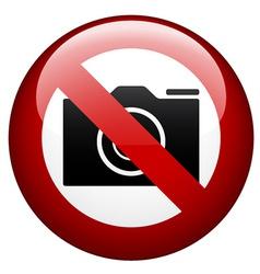 no camera mark vector image