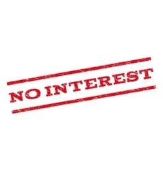 No Interest Watermark Stamp vector image