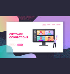online briefing landing page template webcam vector image