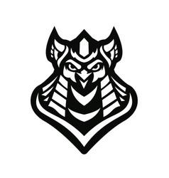 Owl king vector