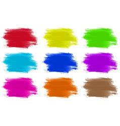 Paint colours set of 9 vector image
