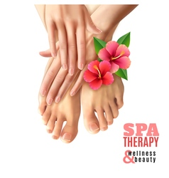 Pedicure Manicure Spa Salon Poster vector