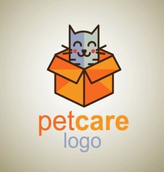 pet care logo 8 vector image
