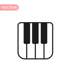 Piano keyboard icon isolated on white background vector