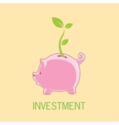 Piggy bank investment vector