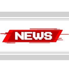 Pixel text news on red background vector