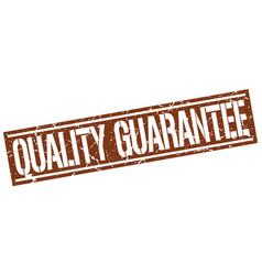 Quality guarantee square grunge stamp vector