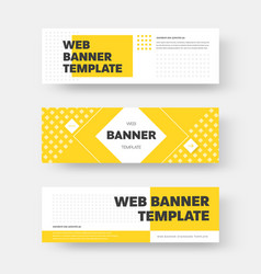 Rectangular horizontal web banner design with vector
