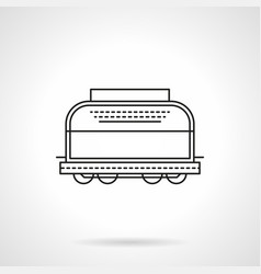 Refrigerated boxcar flat line icon vector