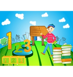 school child vector image