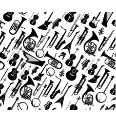 seamless background with silhouettes musical vector image