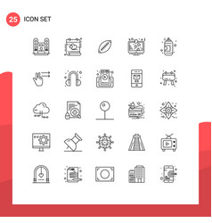 Set 25 commercial lines pack for lcd display vector