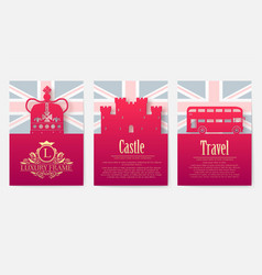 set of england country ornament vector image