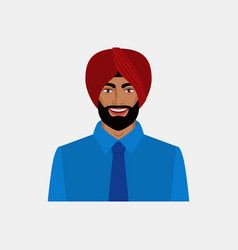 Smiling indian businessman in turban vector
