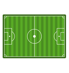 soccer field top view empty football stadium vector image