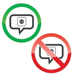 Socket message permission signs vector image