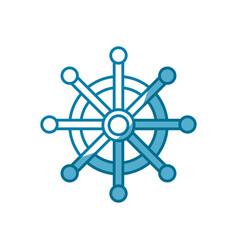 steering ship boat vector image