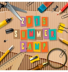 Summer Camp themed poster vector