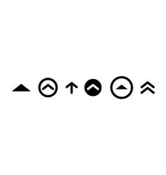 Swipe up insta story black icon scroll arrow drag vector