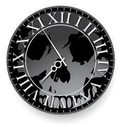 tattoo with clock and skull vector image