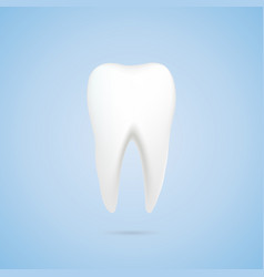 tooth with shadow vector image