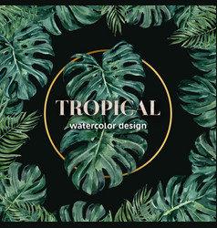 Tropical-themed border frame decorated vector