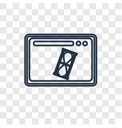 Visit concept linear icon isolated on transparent vector