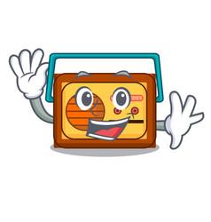 Waving radio character cartoon style vector